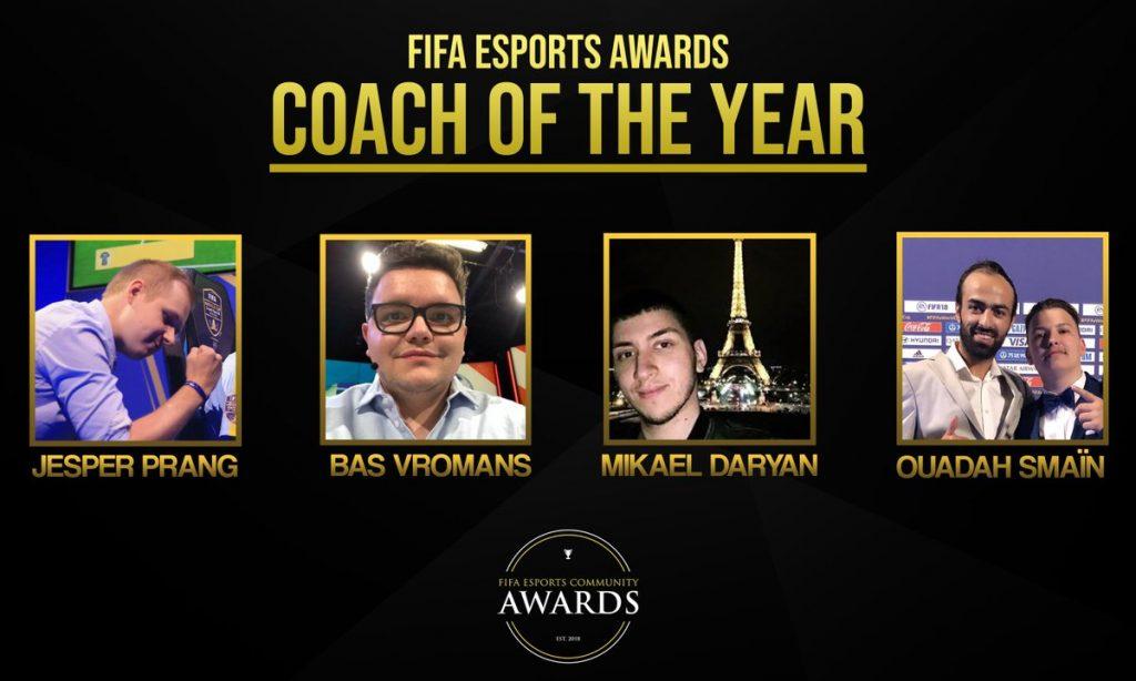 Les coachs fifa esport de l'année