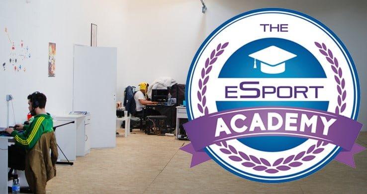 Locaux et logo de l'école esport academy