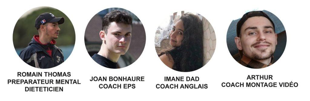Photo de 4 coachs de l'école MGA.