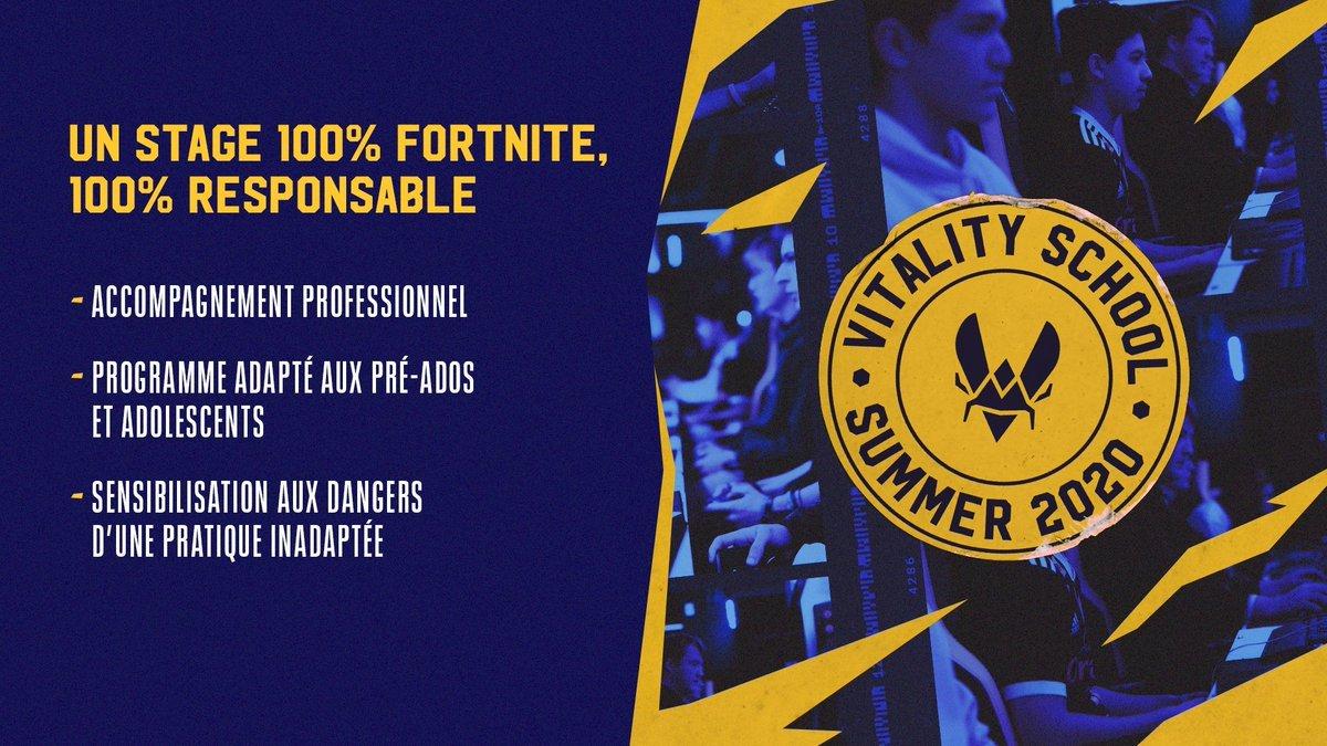 vitality summer school fortnite jeu vidéo
